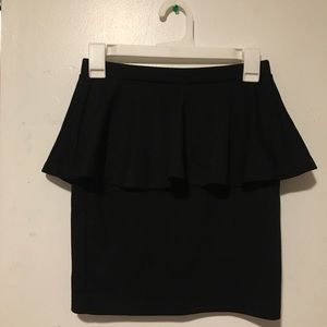Forever 21 Peplum Black Bodycon Skirt S